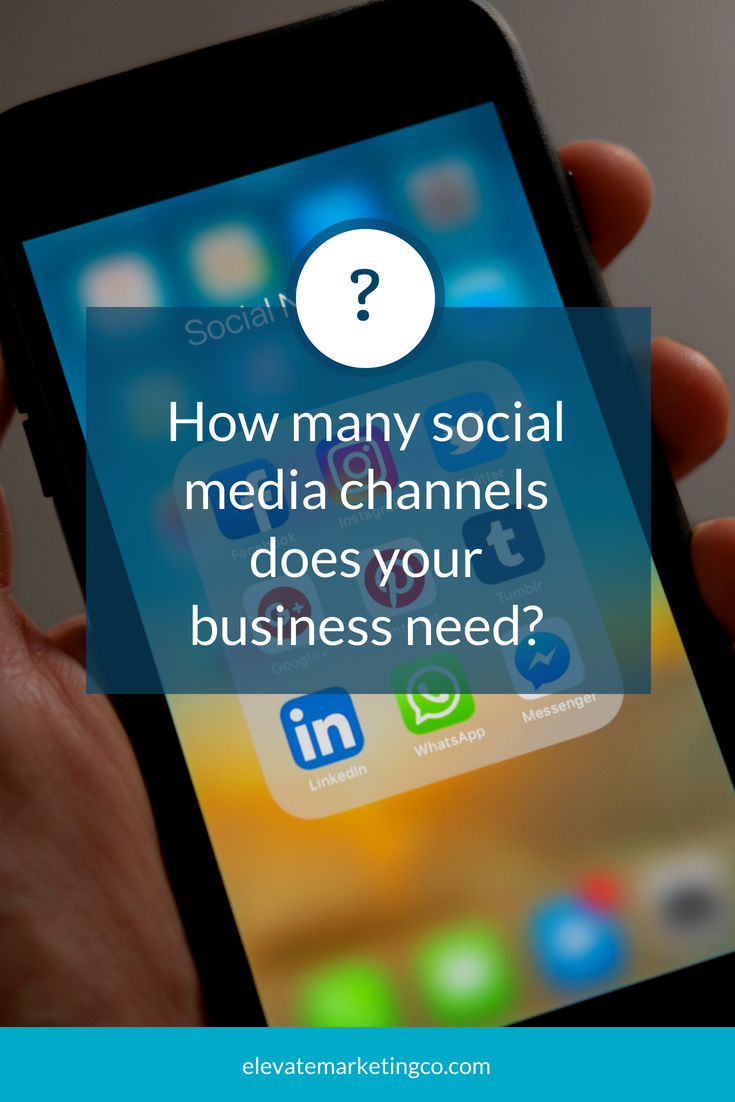 How many social media channels does your business need?