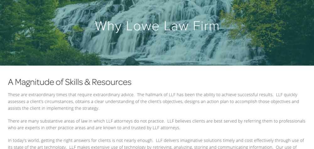 Lowe Law Firm - About