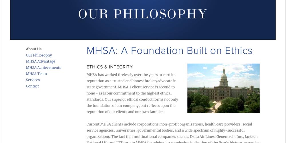 MHSA- Philosophy