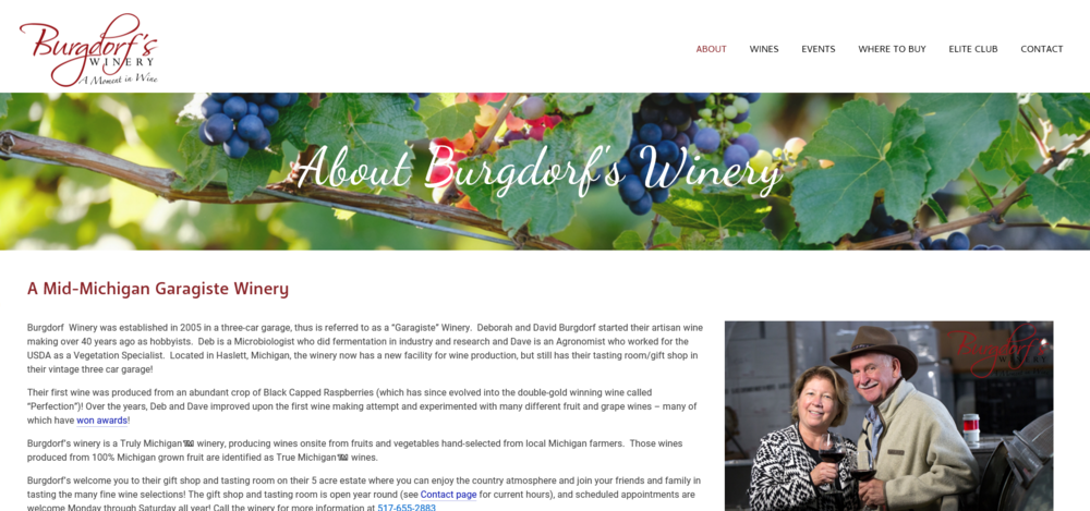 Burgdorf's Winery - About