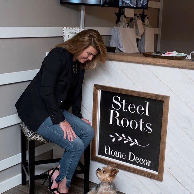 Chartham Magazine took photos for our new add campaign. Rupert seemed to enjoy the camera more than Harley. If it wasn't for the puppies, our new sign and custom desk by Peacock Woodworking would have been the only star of shoot! #chathammagazine #steelroots #simplyointeriors #peacock_woodworks