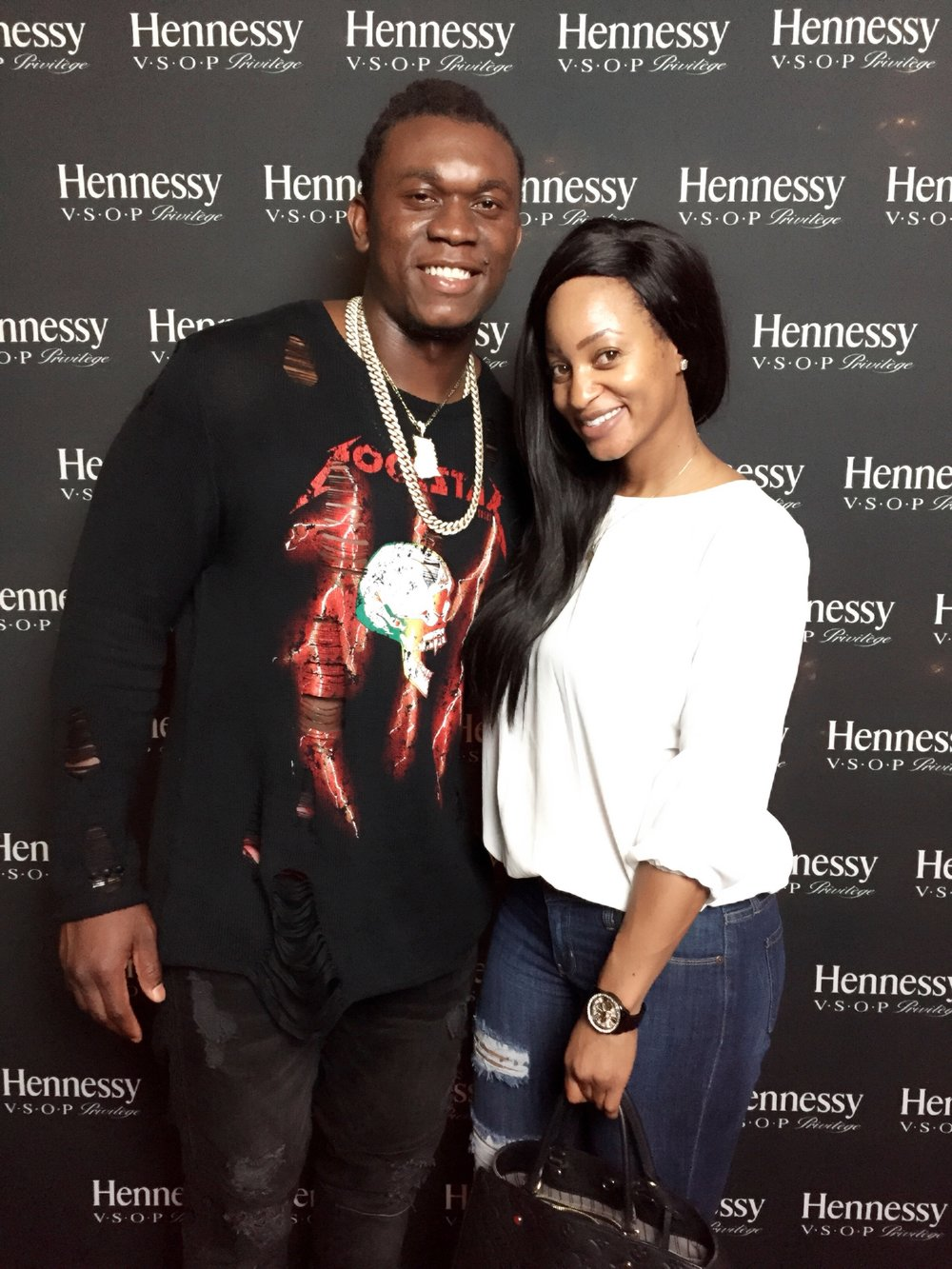 NLSC and client Ezekiel 'Ziggy' Ansah at movie premier post screening soiree