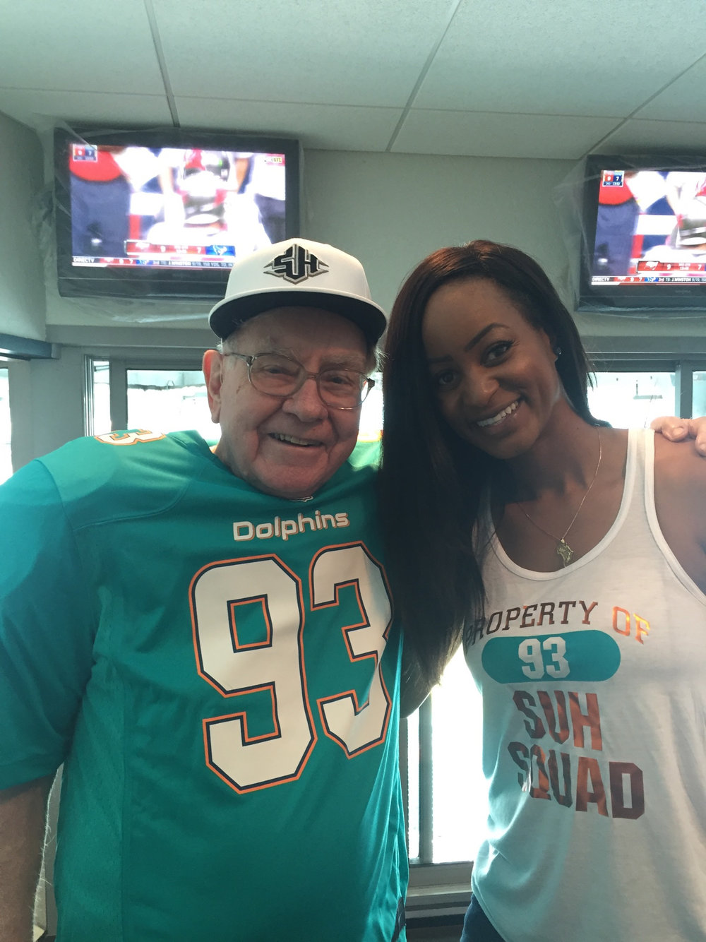 NLSC hosting billionaire and Berkshire Hathaway Chairman Warren Buffett at Miami Dolphins football game