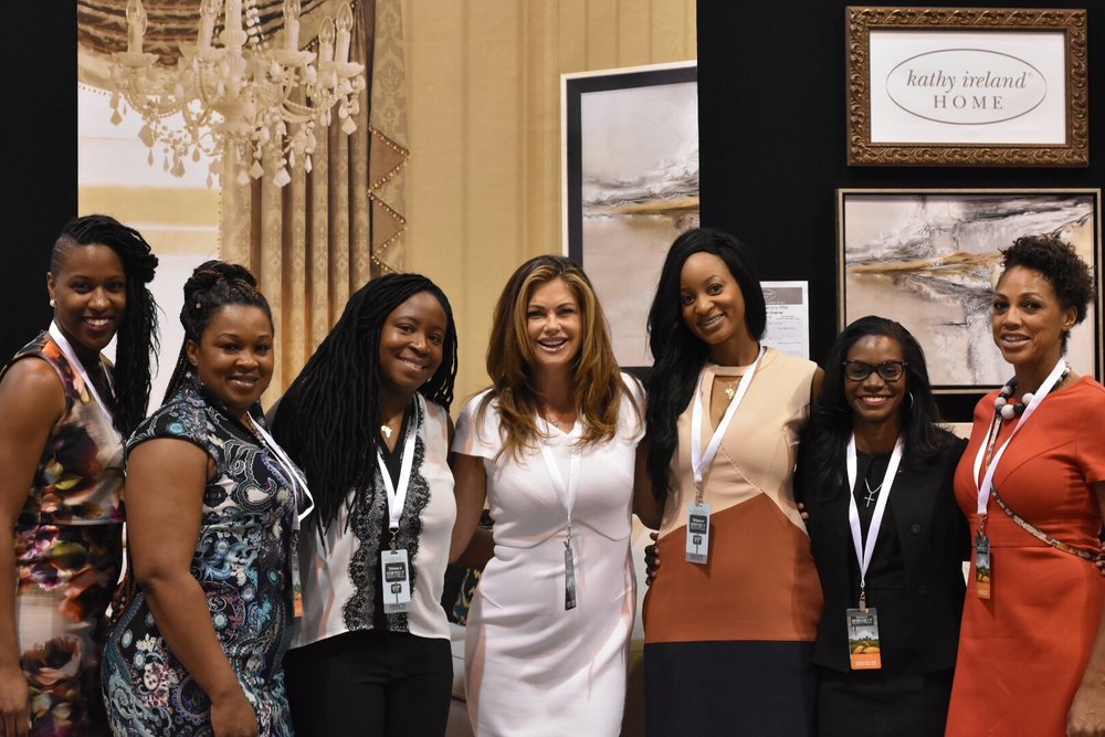 Ngum introduces her financial club members 'The Plutocrats' to model and businesswoman Kathy Ireland