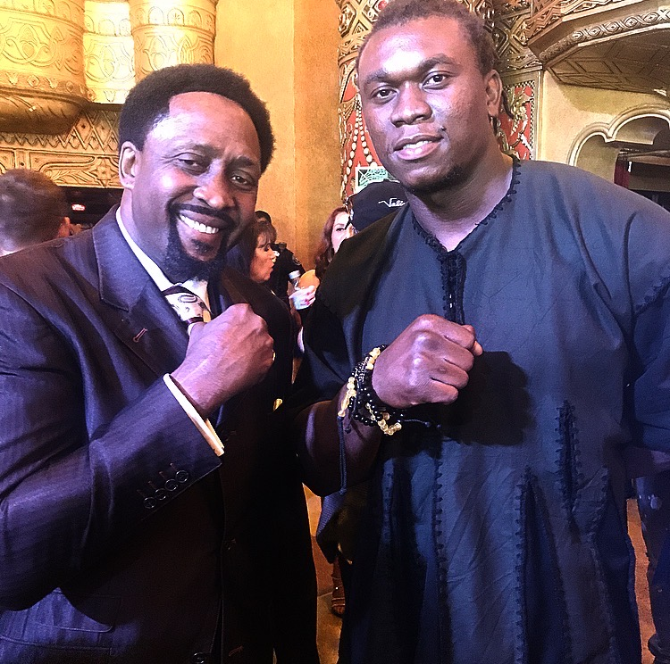 NLSC client Ziggy Ansah & Tommy Hearns