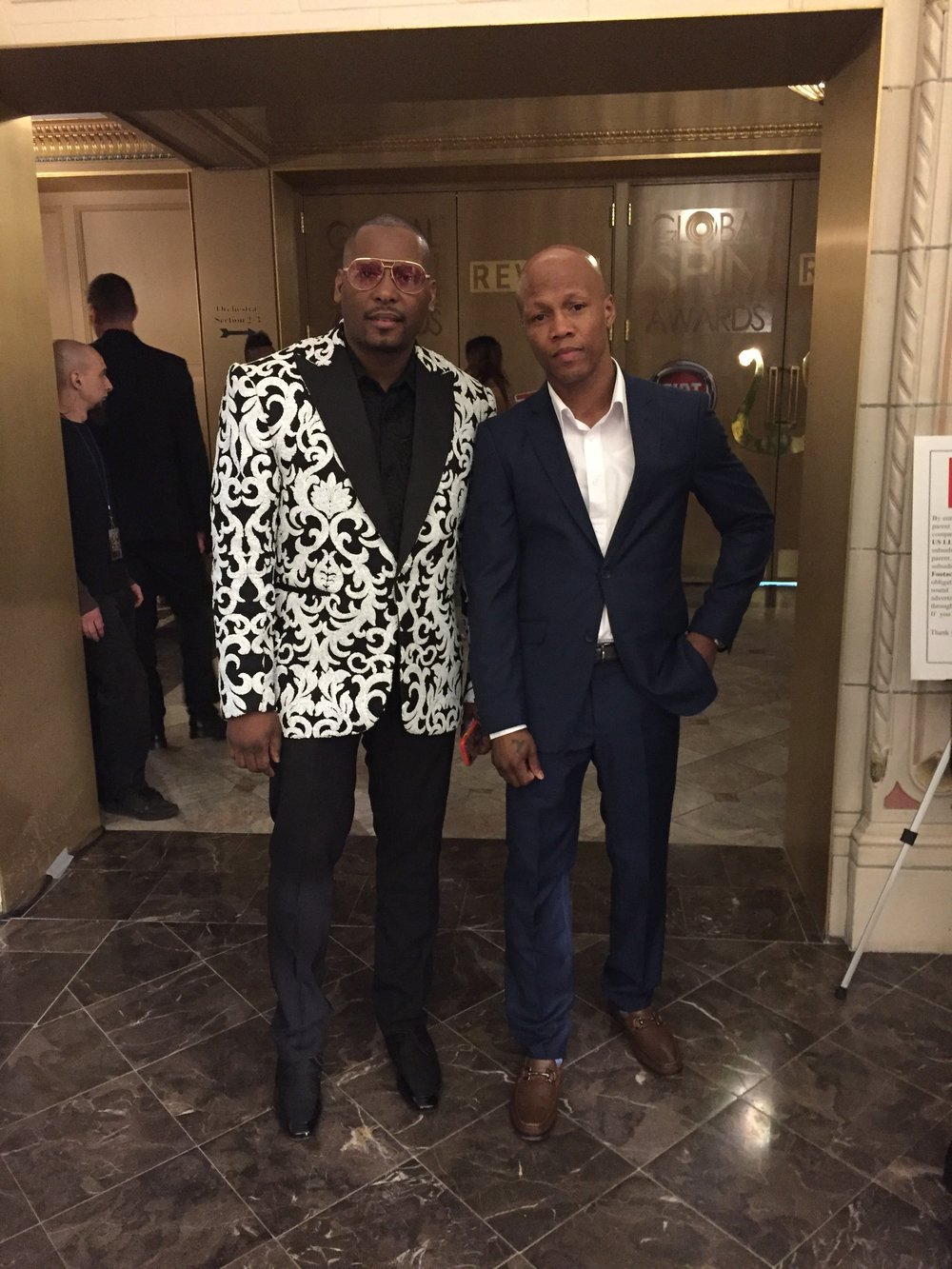 NLSC client Zab Judah & DJ Self at the Revolt Spin Awards during NBA Allstar 2017