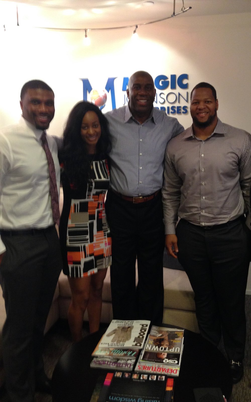 NLSC with client Ndamukong Suh & mentor Magic Johnson