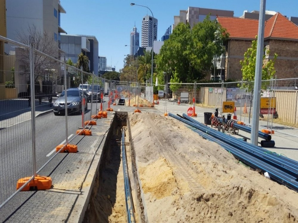 HAY STREET GAS AND WATER MAIN - 👥 Water Corporation & ATCO Gas📅 Oct 16 - Feb 17