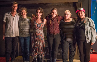 Left to Right: (photo by Neale Eckstein) Chris Moyse, Rachel Kilgour, Mia Rose Lynne, Letitia VanSant, Ingrid Graudins, Winona Wilde