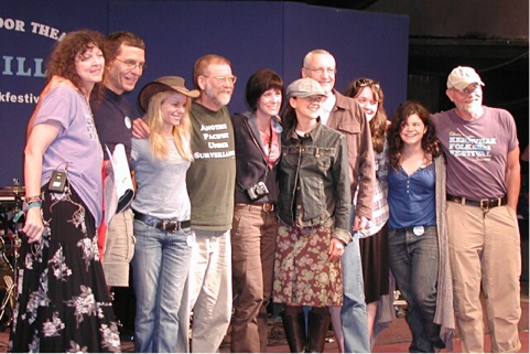2009 Winners with Dalis and the judges (Left to Right: Dalis, Jon, Amilia, Tom, Louise, Carrie, Ernest, Lucy, Rebecca, and TR)