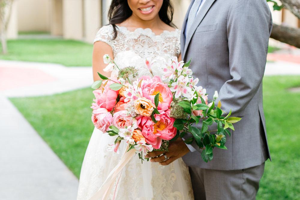 - BRIDAL BOUQUET |seasonal blooms, lush greenery, choice of silk, velvet, or lace ribbon - $200