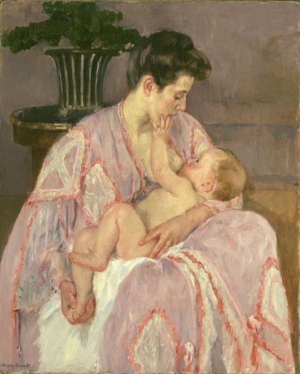 mary cassatt- mother nursing her child - 1906