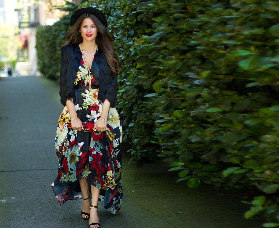 Alice + Olivia Triss Floral-Print Sleeveless Maxi Dress
