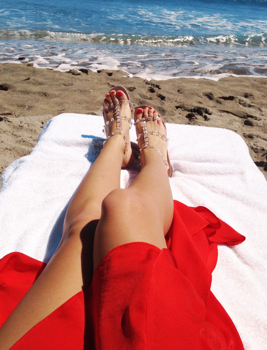 Valentino Naked Rockstud Gladiator Sandals