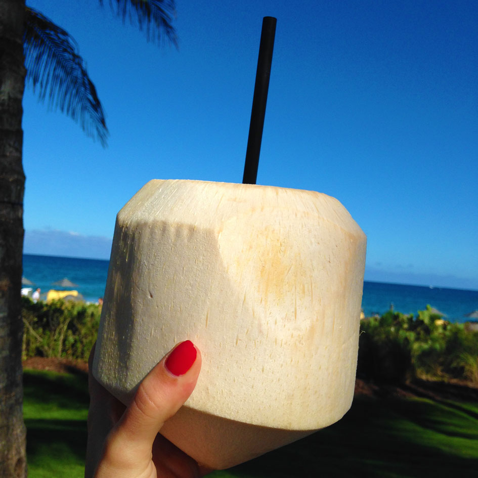 coconut drink in coconut