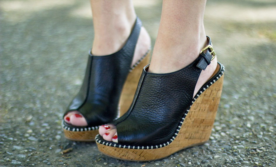 Dolce Vita Leather Cork Wedge