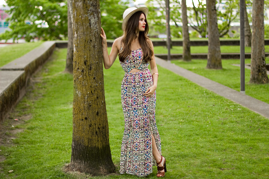 Poppy Lux Crystal Maxi Dress