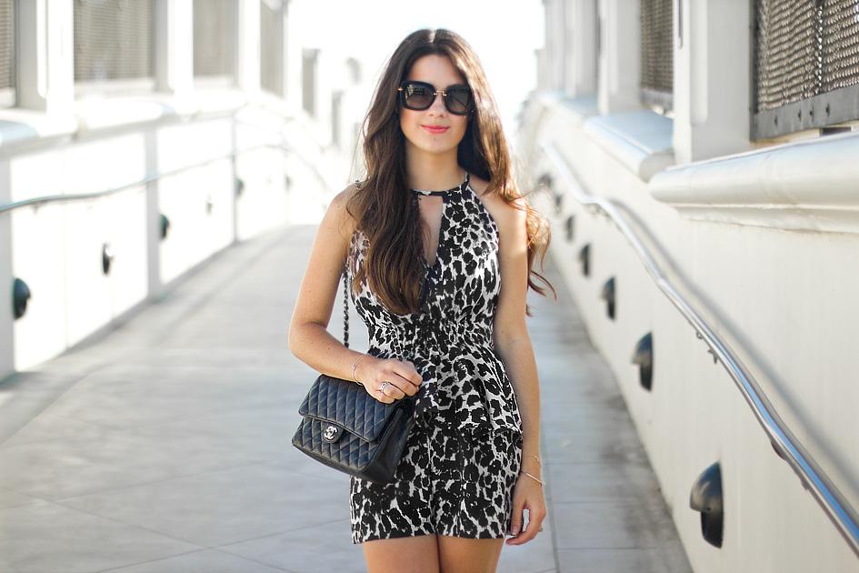 Boho Republic Peplum Top & Romper Shorts in leopard
