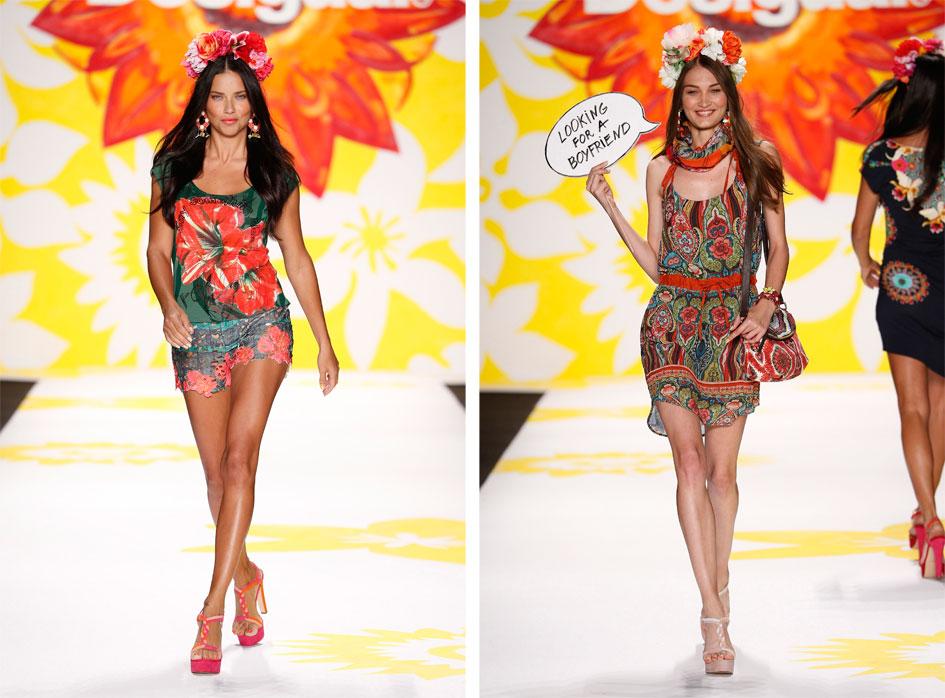 Desigual Spring 2015 Runway Show Adriana Lima Fashion Week SS15 Day One Photo Diary