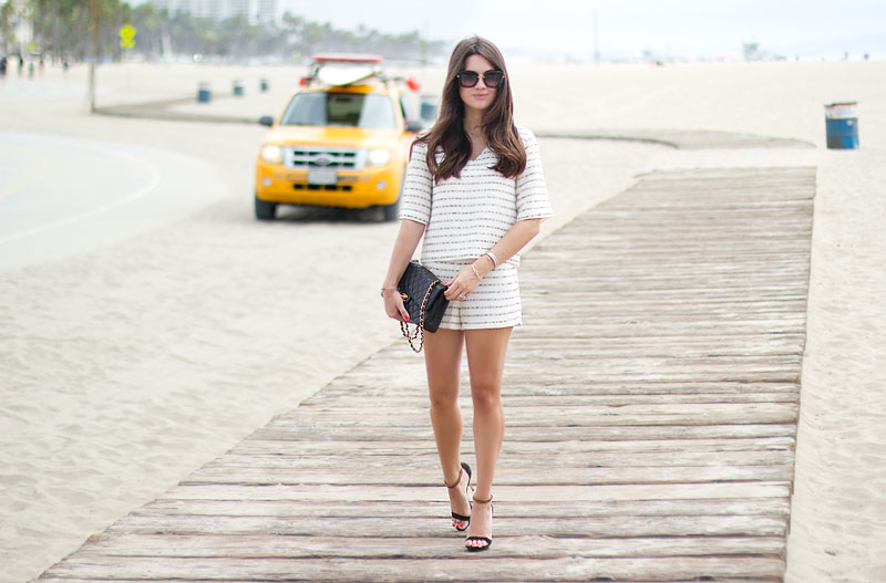 Talulah Matching Separates Beach fashion Santa Monica Beach