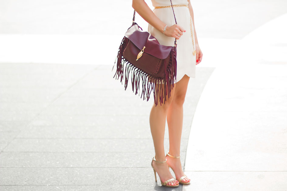 Valentino Scarab Fringe Leather Shoulder Bag Day Two: New York Fashion Week SS15
