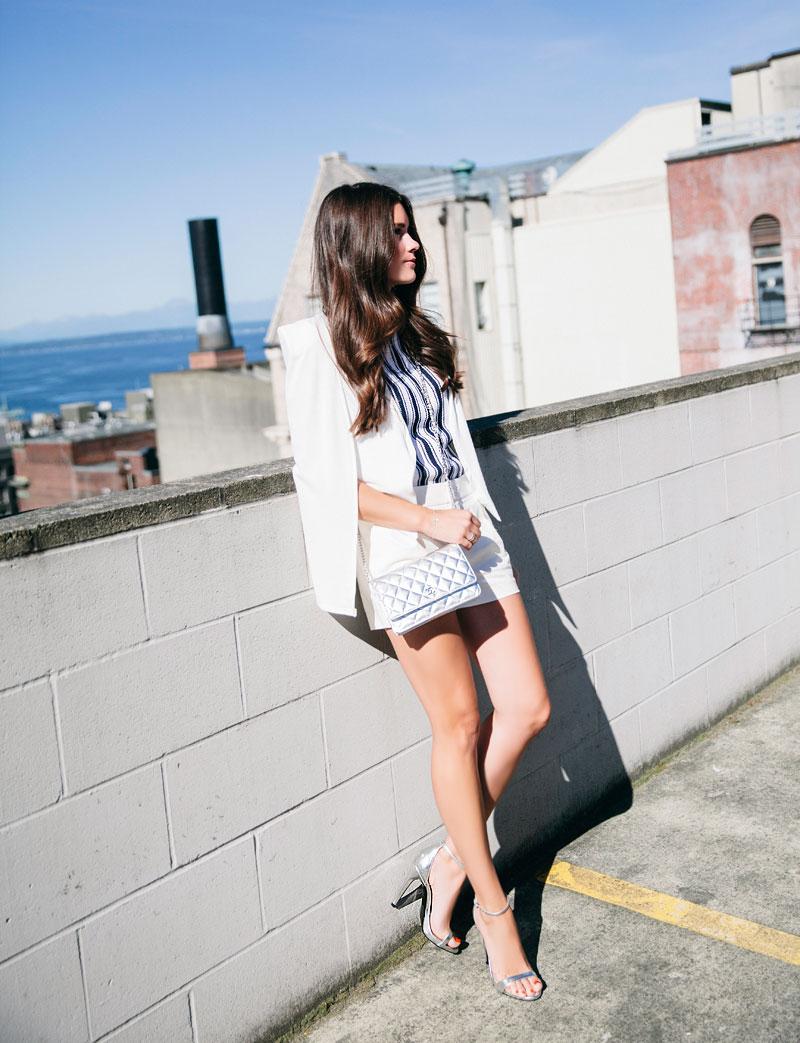 White Cape Blazer Trend