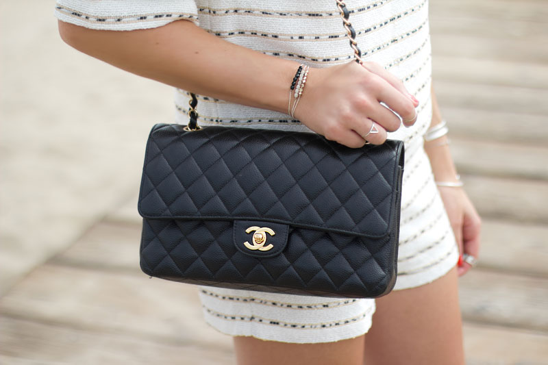 classic quilted chanel handbag