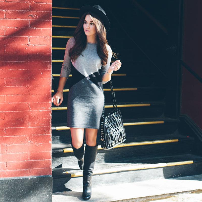360 Sweater Vogue Colorblock Dress