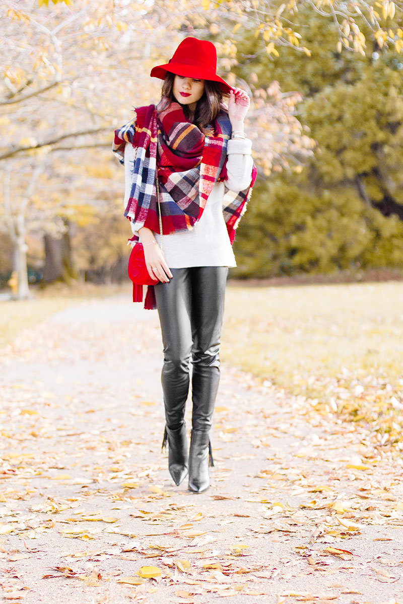 Color Block Checkered Blanket Scarf