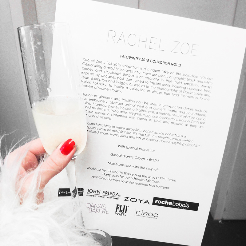 Rachel Zoe fw15 presentation program