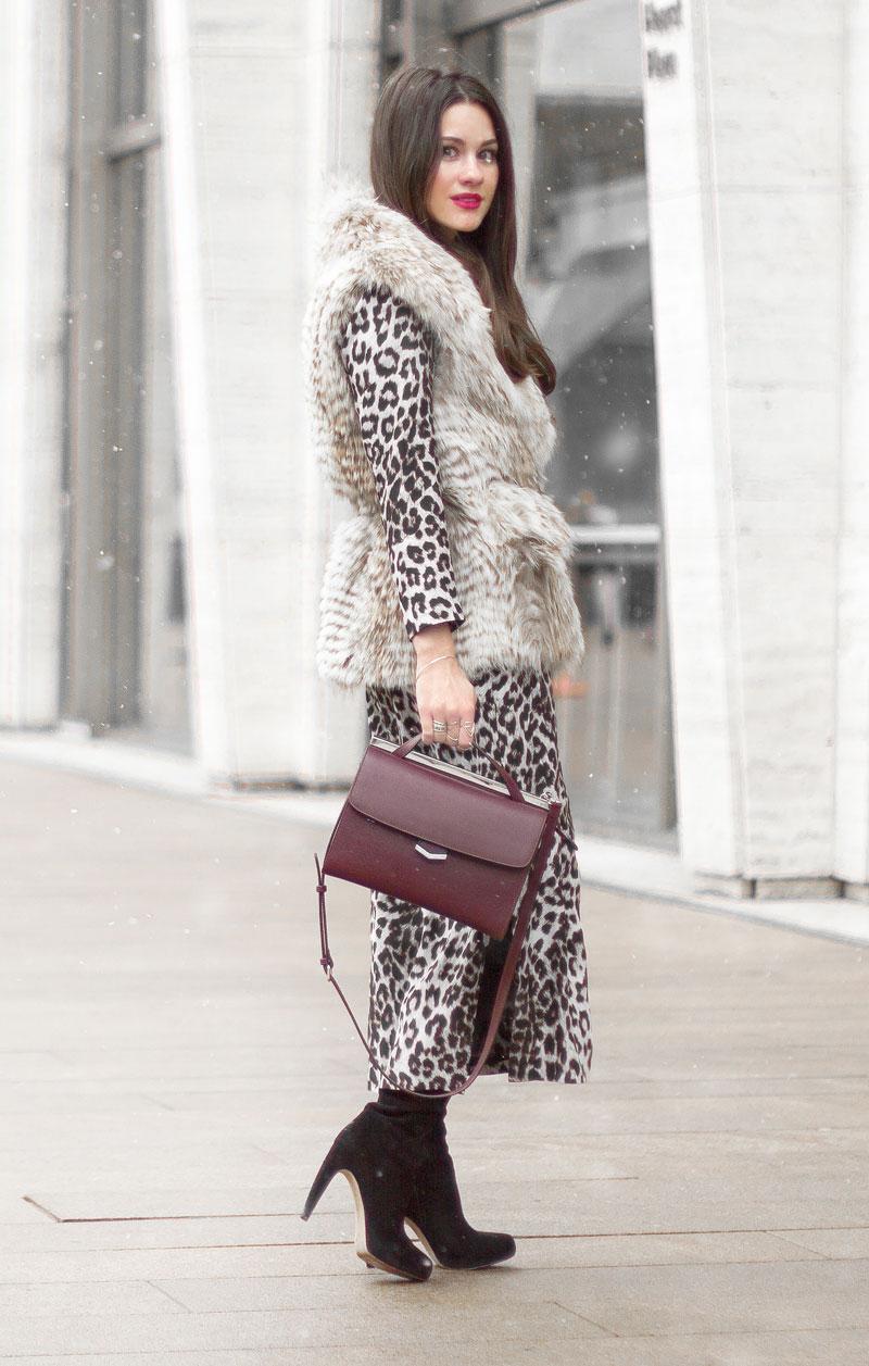Rag & Bone Leopard Midi Dress