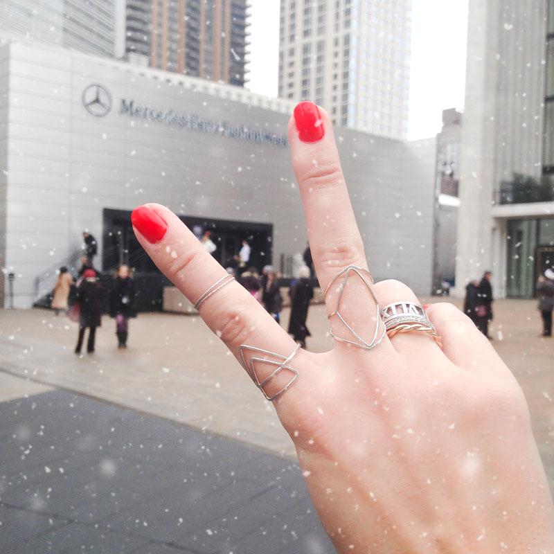 stacking rings new york fashion week