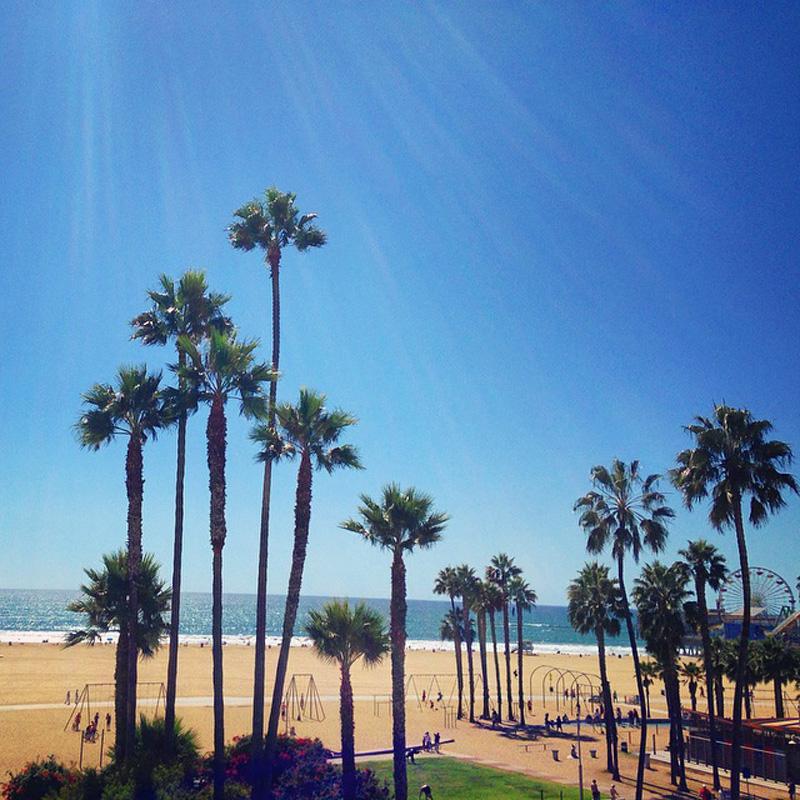 santa monica beach pier