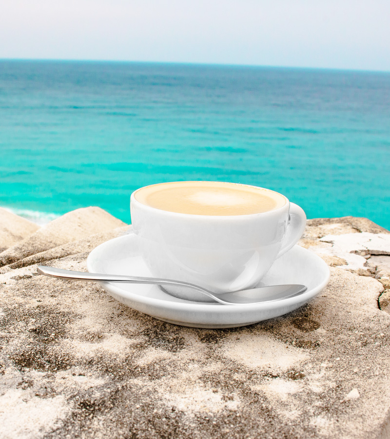 coffee espress on Nice France French Riviera Baie des Anges