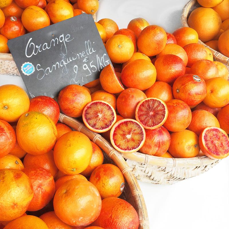 oranges at street market