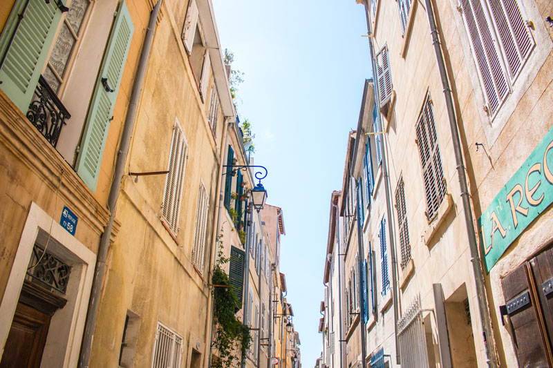 City streets in Marseille France