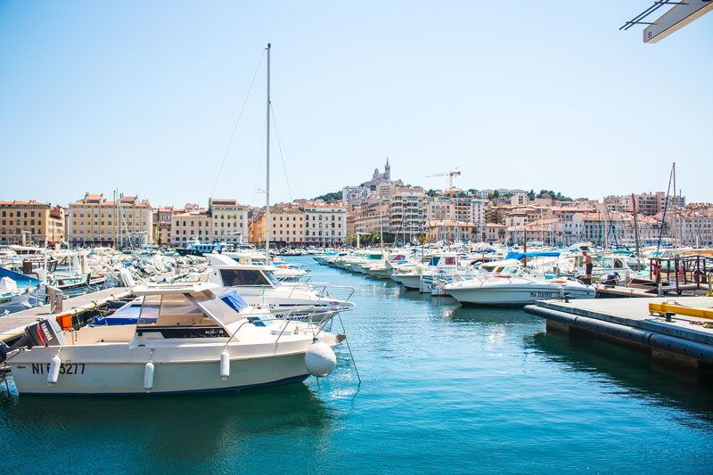 Boat Harbor in Marseille France