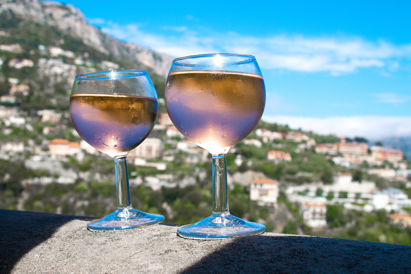 Rose Wine in Eze France