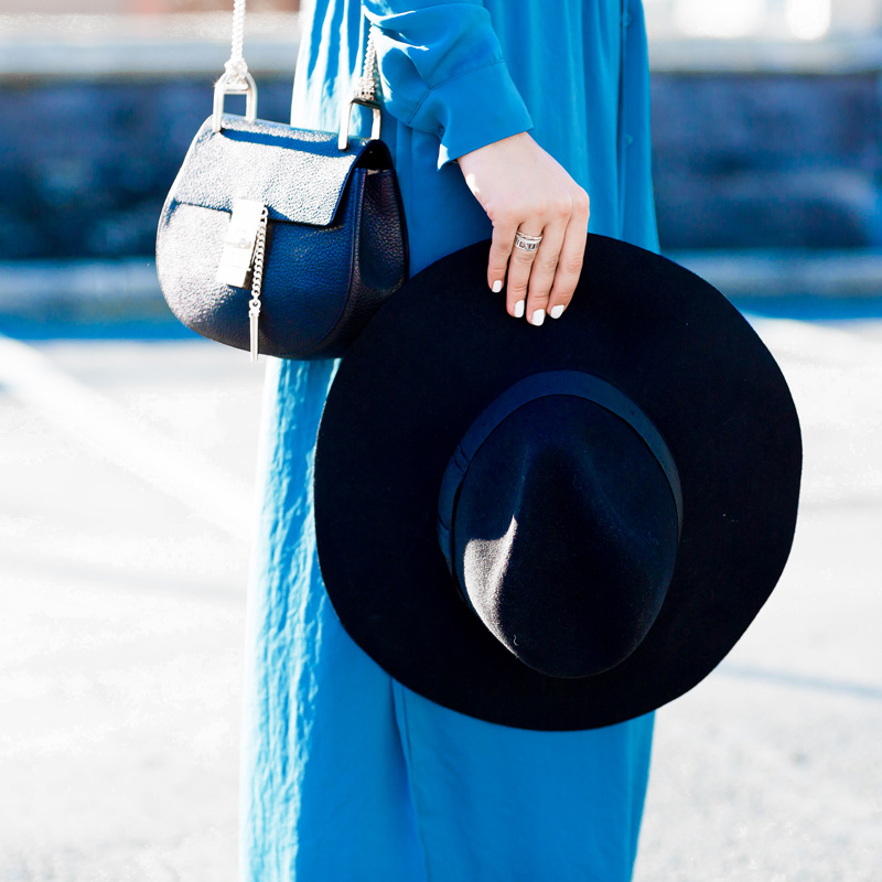 Vince Long-Sleeve Maxi Shirtdress city street style outfit