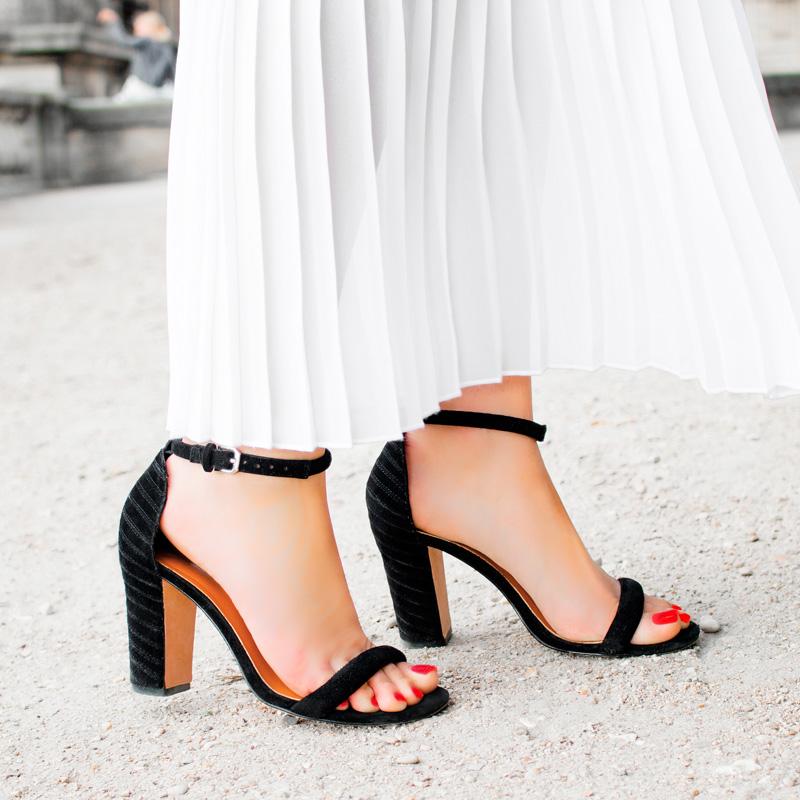 Rebecca Minkoff Black Ankle Strap Heel