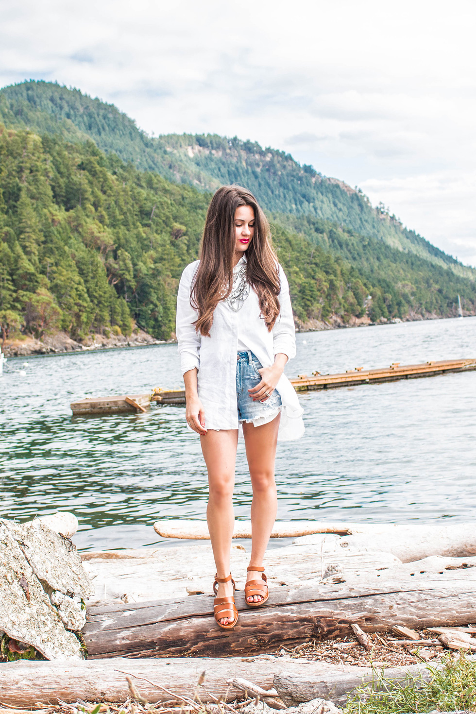 Tommy Bahama Linen Tunic Orcas Island Exploring the San Juan Islands in Style Fashion Blogger