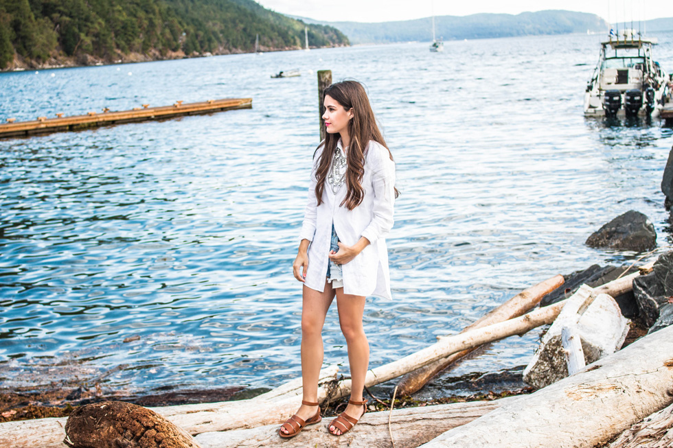 Tommy Bahama Linen Tunic Orcas Island San Juan Islands Fashion Blogger