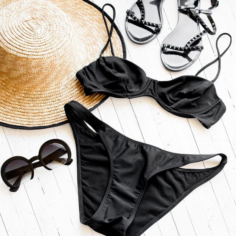 black bikini american apparel