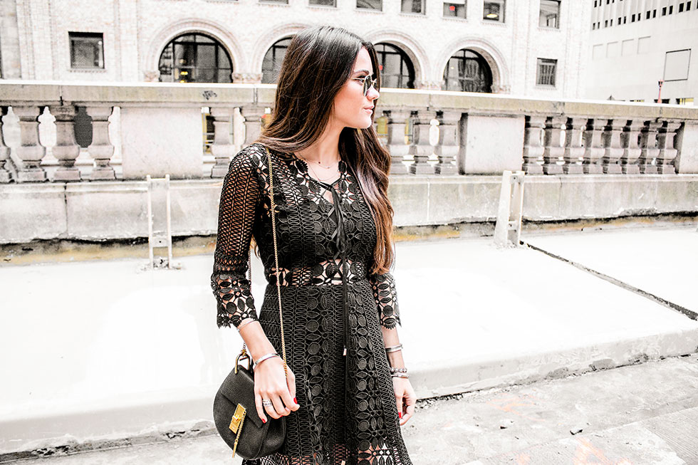 Self-Portrait Lace A-Line Dress at NY Fashion Week