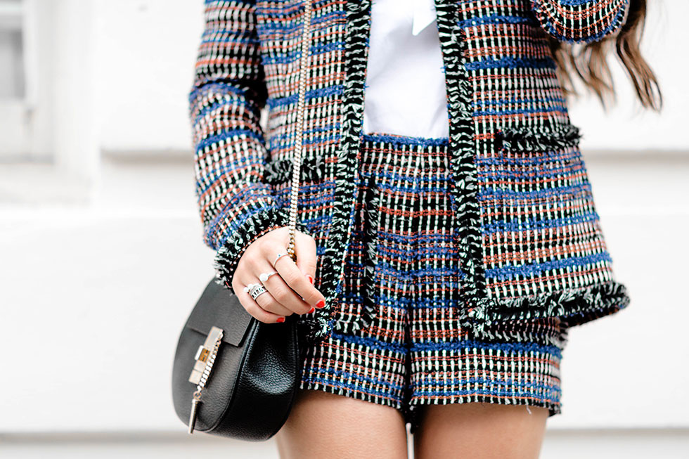Rachel Zoe Tweed Jacket and Tweed Shorts