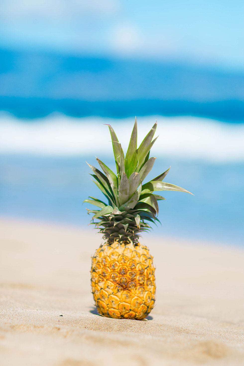 Pineapple on Sandy Beach Lahaina-Maui-Hawaii-Travel-Photos-1
