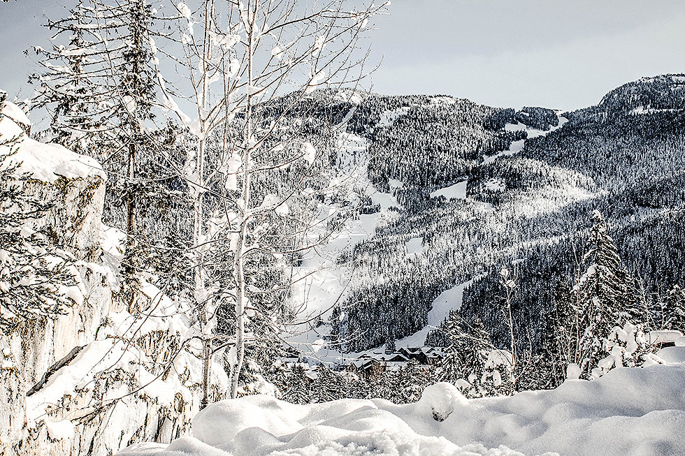 whistler canada mountains scenic photo winter snow day