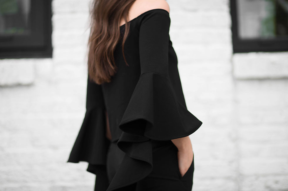 Your Not-So-Basic Guide to Rocking an Off-The-Shoulder Top - ELLERY RUFFLE SLEEVE OFF-SHOULDER TOP