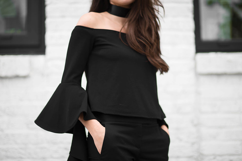 Your Not-So-Basic Guide to Rocking an Off-The-Shoulder Top --- ELLERY RUFFLE SLEEVE OFF-SHOULDER TOP