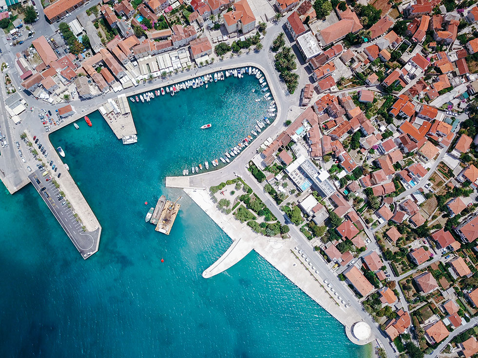 Supetar-Brac-Croatia-Aeriall-Drone-Summer-Travel
